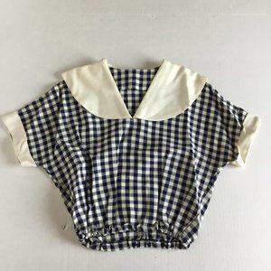 Ladies Vintage Sailor Top and Gingham Jacket